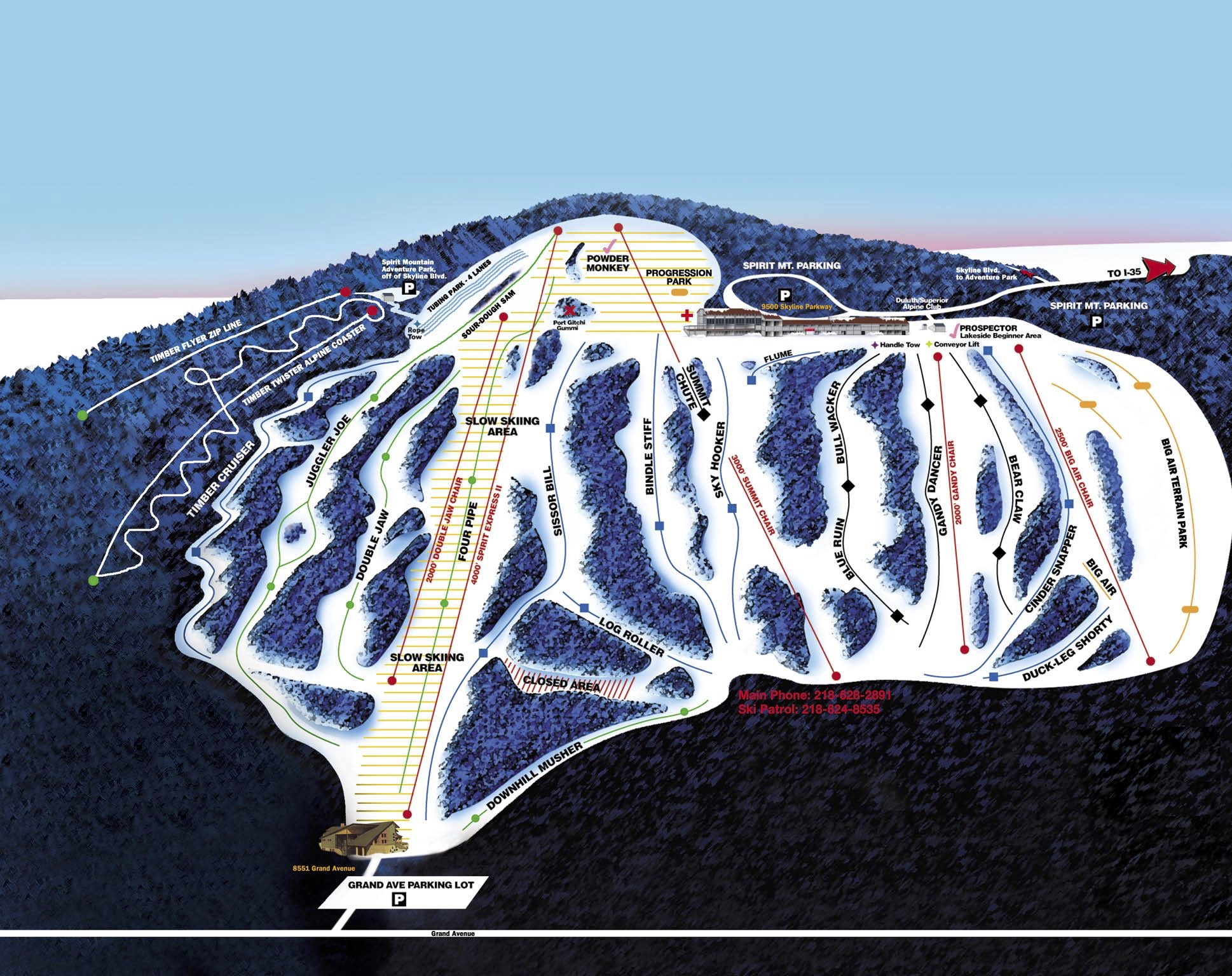 Alpine Ski Map